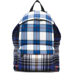 Givenchy coated canvas checked backpack (€1.145) ❤ liked on Polyvore featuring men's fashion, men's bags, men's backpacks, blue and givenchy