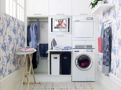 Opzetrand Met Uitschuifbaar Blad.A Chic Laundry Room Design Plus The Addition Of A Tv Would