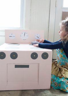 homemade kids kitchen