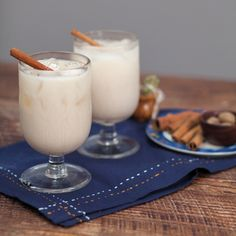 "Homemade (Rum-infused) Horchata | MyRecipes.com ""Whole milk and sweetened condensed milk make this booze-infused Mexican horchata insanely rich and creamy."""
