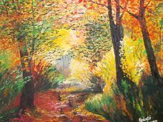 Szántó Ágnes Ősszel az ösvényen olaj Painting, Art, Painting Art, Paintings, Kunst, Paint, Draw, Art Education, Artworks