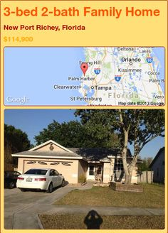 3-bed 2-bath Family Home in New Port Richey, Florida ►$114,900 #PropertyForSale #RealEstate #Florida http://florida-magic.com/properties/91591-family-home-for-sale-in-new-port-richey-florida-with-3-bedroom-2-bathroom