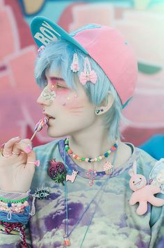 Women Fashion New Fashion Pastel Goth Makeup, Pastel Goth Outfits, Pastel Punk, Pastel Goth Fashion, Pastel Outfit, Kawaii Fashion, Grunge Outfits, Lolita Fashion, Cute Fashion