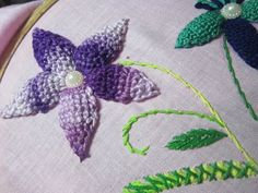 Hand Embroidery Designs | Basic embroidery stitches # Part 6 | Stitch and Flower-76 - YouTube