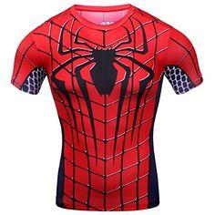 Cody Lundin® Hombres de compresión y fitness Ropa deportiva T-shirt,3D superhéroe Superman,Spider-man,Batman Camisetas de manga corta #camiseta #friki #moda #regalo
