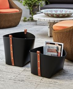 Our bonded leather baskets are entirely handmade by our craftsmen. The material is washable, eco-friendly and hard-wearing, making it suitable to store magazine Leather Box, Leather Gifts, Leather Bags Handmade, Leather Craft, Small Leather Goods, Bonded Leather, Unique Home Decor, Luxury Home Decor, Couture Cuir