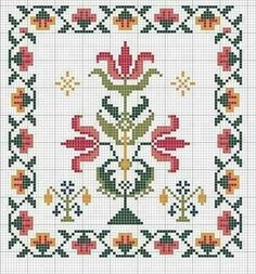 Discover thousands of images about Motif Biscornu Cross Stitch, Cross Stitch Pillow, Cross Stitch Borders, Cross Stitch Flowers, Cross Stitch Charts, Cross Stitch Designs, Cross Stitching, Cross Stitch Embroidery, Embroidery Patterns