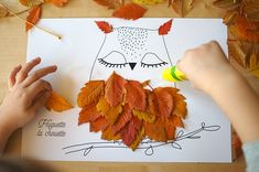 Crafting with Kids: Simple Ideas with Leaves – a free tutorial on the topic: Crafts for Kids ✓DIY ✓Steps-By-Step ✓With photos Halloween Crafts For Kids, Kids Crafts, Diy And Crafts, Simple Crafts, Autumn Activities For Kids, Craft Activities, Autumn Crafts, Nature Crafts, How To Make Snowflakes