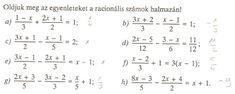7.A (2019.02.18.) Törtes egyenletek megoldása - bergermateks Webseite!