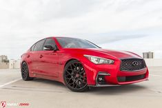 Someone call Deadpool – we have his ride ready. We're closing out 2018 with a bang with what is quite possibly the best looking INFINITI not-yet cruising the Naples streets. Infiniti Q50 Red Sport, Maserati Gt, Custom Trucks, Primary Colors, Deadpool, Jdm Cars, Vroom Vroom, Luxury, Nissan