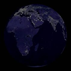 Bits of Europe, West and South Asia seen from space at night