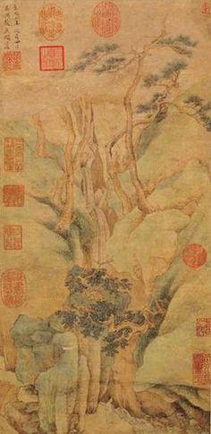 """Yuan - Zhao Meng - """"View of spring Figure"""" Zhao Mengfu, 1254 - 1322, Yuan Dynasty yazarı: China Online Museum - Chinese Art Galleries 1"""