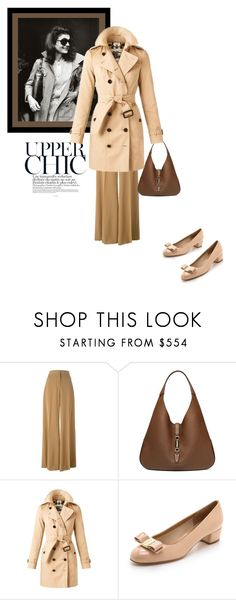 """""""The Jackie factor"""" by theitalianglam ❤ liked on Polyvore featuring STELLA McCARTNEY, Gucci, Burberry, Salvatore Ferragamo, women's clothing, women, female, woman, misses and juniors"""
