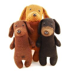 Hmm, may need to learn how to knit purely for these dachshunds...