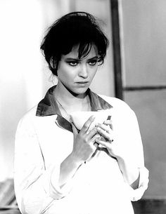 Anna Karina in Lo straniero directed by Luchino Visconti, 1968