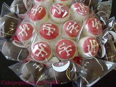 49ers cake pops
