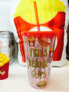 Fast Food Drinking Cup 'Fries Before Guys' #fastfood #cup #giftideas #accessories