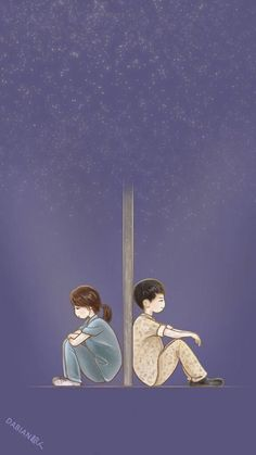 wait for your loved ones Cute Couple Drawings, Cute Couple Art, Anime Couples Drawings, Anime Love Couple, Couple Cartoon, Cute Anime Couples, Cute Drawings, Descendants Of The Sun Wallpaper, Cover Wattpad