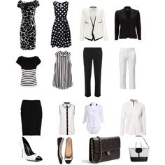 """my black and white capsule spring wardrobe"" by lisajardine on Polyvore"