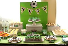 soccer themed party!!