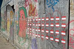 Interactive public art project that invites residents to share their hopes for vacant buildings. Hoarding Design, Street Art, Urban Intervention, Inspiring Things, Public Art, Public Spaces, I Wish, Abandoned Buildings, Worlds Of Fun