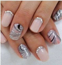 How To Apply Rhinestones To Nails
