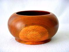 Mid Century Round Solid Teak Wood Bowl Danish by GSaleHunter, $32.00