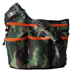 A camouflage diaper bag for Dad