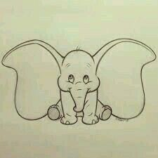 My Disney drawing – One of the cutest Disney characters! The post My Disney drawing – One of the cutest Disney characters! appeared first on Woman Casual - Drawing Ideas Cute Drawings Tumblr, Cute Disney Drawings, Cute Easy Drawings, Disney Sketches, Art Drawings Sketches, Art Sketches, Drawing Disney, Sketch Drawing, Dumbo Drawing