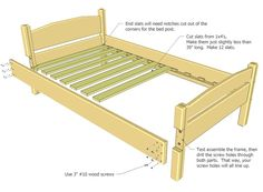 Going to use this design and adapt it to make an L-shaped double loft bed for the girls