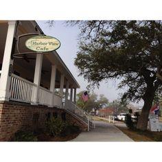 Harbor View Cafe, Long Beach, Mississippi.  Wonderful food especially shrimp poboy.  Rebuilt after Hurricane Katrina.