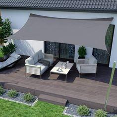 Deck Shade, Patio Sun Shades, Backyard Shade, Sun Sail Shade, Outdoor Sun Shade, Backyard Patio, Shade Garden, Triangle Shade Sail, Backyard Canopy