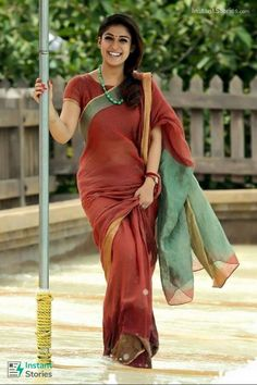 Nayanthara Beautiful Images in Saree Saree Draping Styles, Saree Styles, Saree Blouse Neck Designs, Blouse Designs, Beautiful Saree, Beautiful Outfits, Indian Dresses, Indian Outfits, Saree Jewellery