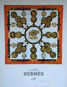 Original Vintage French Ad for Hermes Accessories by reveriefrance