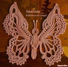 Irish crochet butterfly motif
