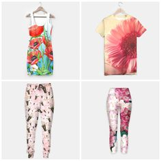 NEW on my #fashion Live Heroes store - #poppies #gerbera #hydrangea #flowers #floral Available in different products #simpledress #tshirt#sweatpants #yogapants #tanktop #leggings  Check more newest designs at bit.ly/fashionpatterns
