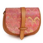 Marbled Leather Shoulder Bag