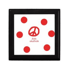 #Zulu Language And Peace Symbol Design Keepsake Box - #country gifts style diy gift ideas