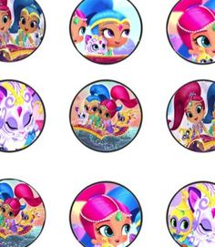 FREE Shimmer and Shine Birthday Party Cupcake Topper Printables