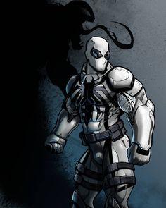 Agent Anti-Venom by BlitzTurner on DeviantArt Agent Venom Marvel, Marvel Dc, Marvel Comics, Iron Spider Suit, Comic Room, Venom Art, Best Superhero, Blitz, Marvel Entertainment