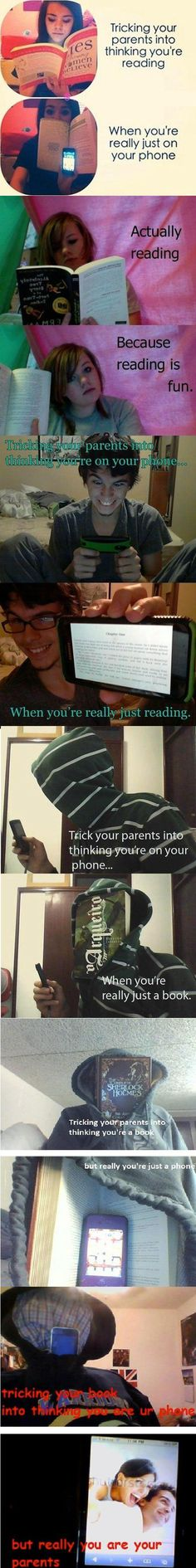 Tricking Your Parents. oh my god XD