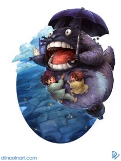 johnny-dynamo:  Ghibli, by Dustin Lincoln