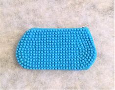 Vintage Turquoise Plastic Beaded Coin or Change Purse Vintage Turquoise, Turquoise Beads, Turquoise Background, Plastic Beads, Change Purse, Vintage Purses, Coin Purse, Buy And Sell, Handmade