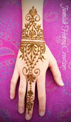 cuff hand design henna www.JamilahHennaCreations.com#hennainspiration