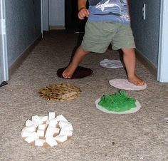 fun textures. sensory stepping stones