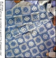 Manta bebe crochet granny