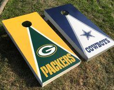 Handmade corn hole boards, Green Bay Packers, Dallas Cowboys corn hole boards!!!