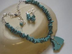 Turquoise Nugget Beads Chain Wire Wrapped by Deanasprairiegems, $64.59