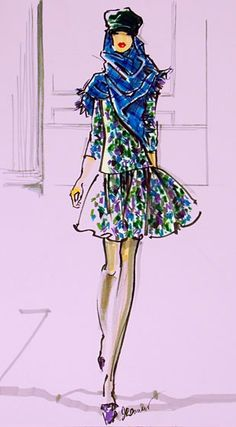 First Look: The W Exhibits Fashion Illustrations by F.I.T. Faculty - The Cut