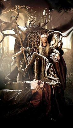 Thranduil. King of the Elves.  He looks so bloody arrogant sitting there poke that, Lol. But he really isn't . Passionate and brave. Let's not forget gorgeous! Love him!